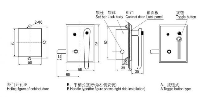 DSN-BMZ/Y Safety Indoor Electromagnetic Lock For Switchgear Cabinet Door