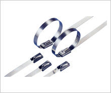 China S304 Stainless Steel Industrial Cable Ties  , Strong Metal Wire Ties Heavy Duty supplier