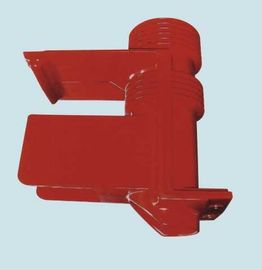 China Red High Voltage Epoxy Resin Insulator 40.5kV Shielded Spout Bushing for Switchgear supplier