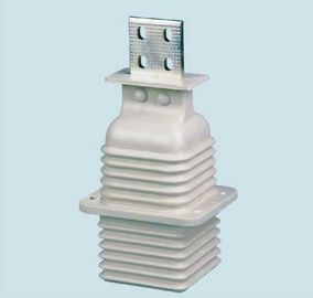 China JYN2-35kV 1250A High Voltage Epoxy Resin Insulator Spout Bushing White Color supplier