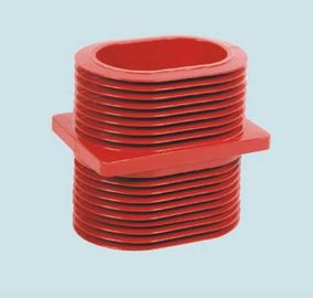 China Red Epoxy Resin Wall Insulated Bushing , Epoxy Resin Busbar Through Insulator supplier