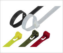 China Colorful Nylon Releasable Industrial Cable Ties For Packing Power Cables distributor