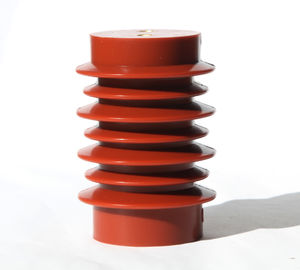 China Red 10kV Epoxy Resin Support Medium Voltage Insulator 100X140mm OEM Service factory