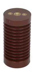 China Brown Epoxy Resin Medium Voltage Insulators , Support Insulator Water Resistance factory
